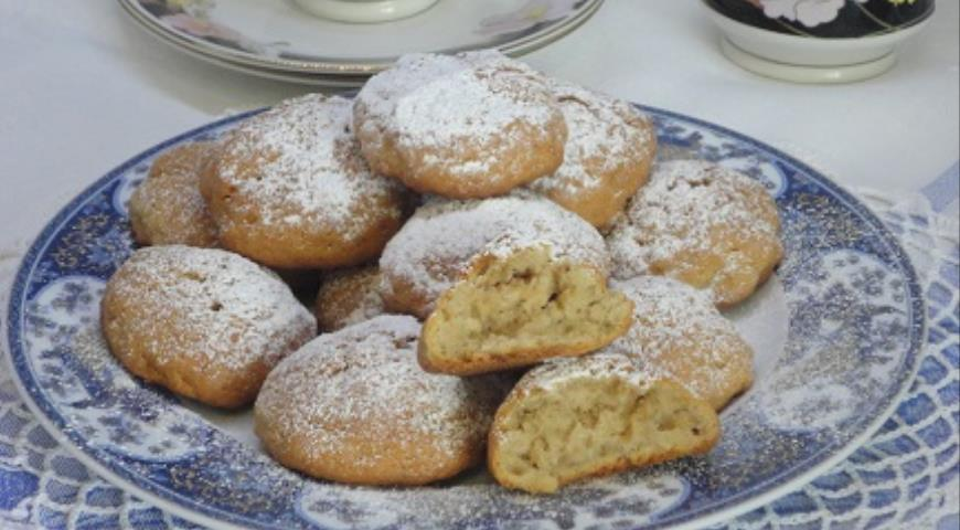 Cottage cheese and coffee biscuits