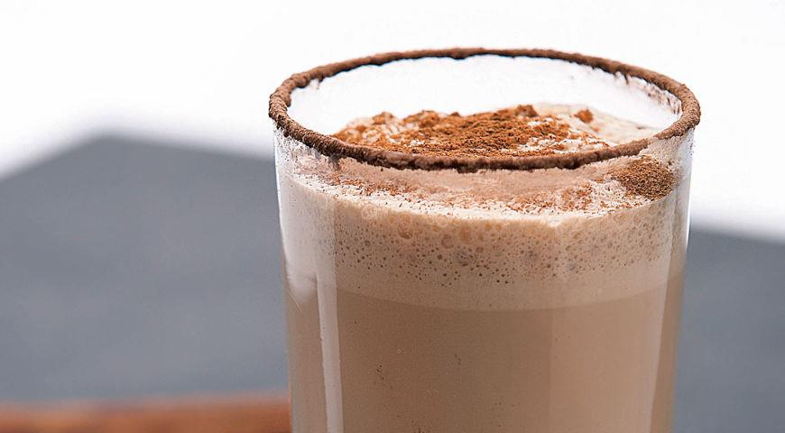 Chocolate and coffee frappe