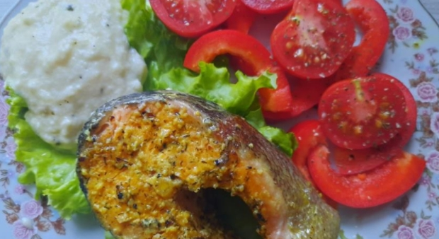 Tuscan Redfish with Creamy Cheese Sauce