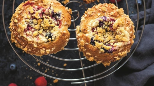 Berry Muffins with Curd Filling