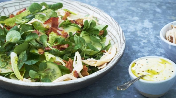 Fried Chicken Salad with Bacon and Chicory