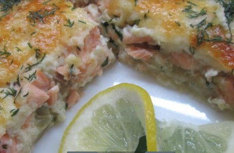 Quiche Stuffed with Sockeye with GoatCcheese
