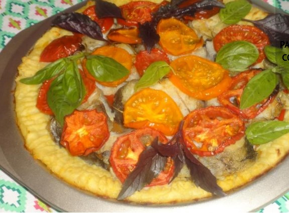Potato Pie with Fish and vVegetables