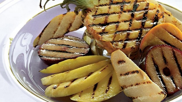 Grilled Fruits with Cinnamon Honey Suzma