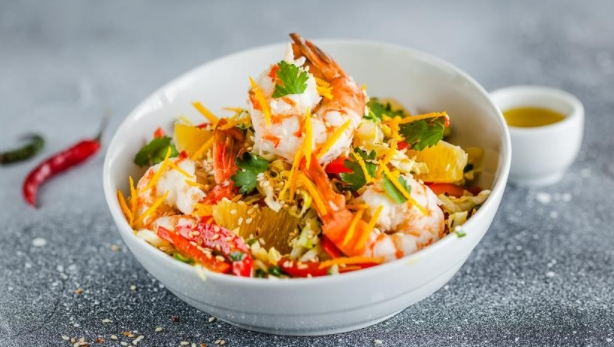 Cabbage Salad with Coconut and Sesame Dressing