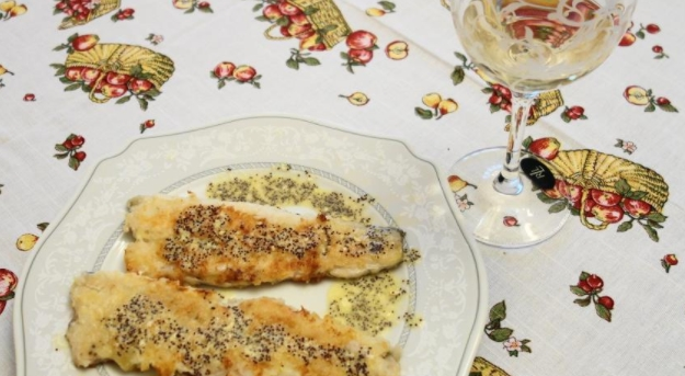 Pike Perch with Poppy Sauce