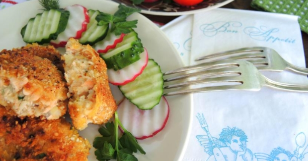 Fish Cutlets in Nut Breading