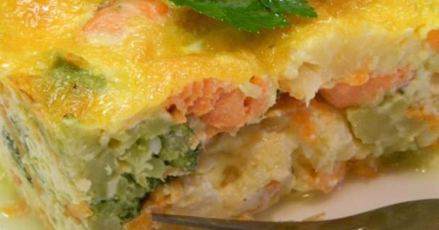 Vegetable Casserole with Salmon