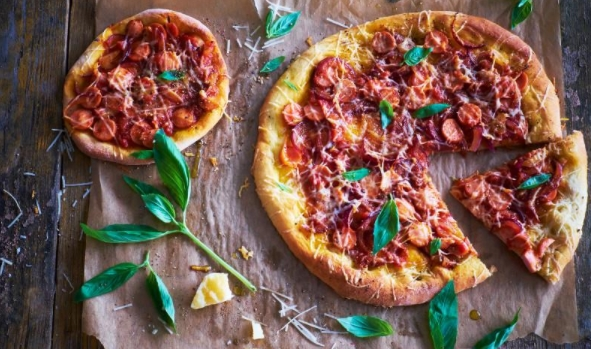 Pizza Sausages and Onions