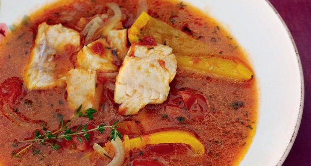 Fish Soup with Tomatoes and Bell peppers