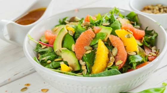 Green Salad with Young Peas and Citrus