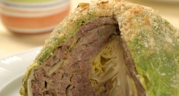 Young Cabbage Stuffed with Meat