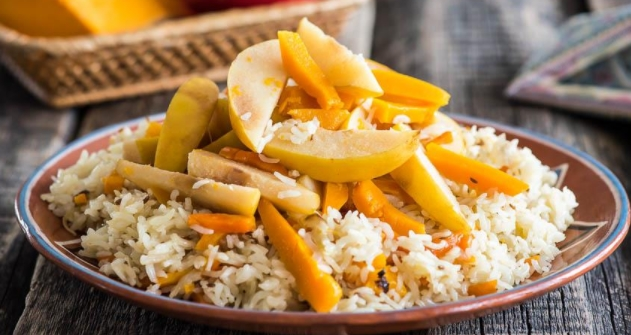 Pilaf with Pumpkin and Quince