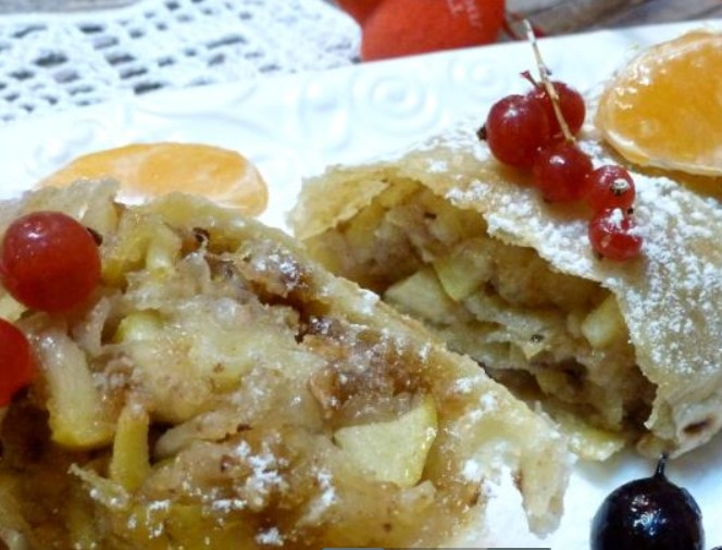 Lavash Strudel with Apples and Nuts