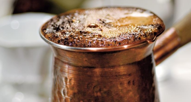 Oriental Coffee with Cardamom in Turk
