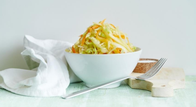 Young Cabbage Salad with Apples
