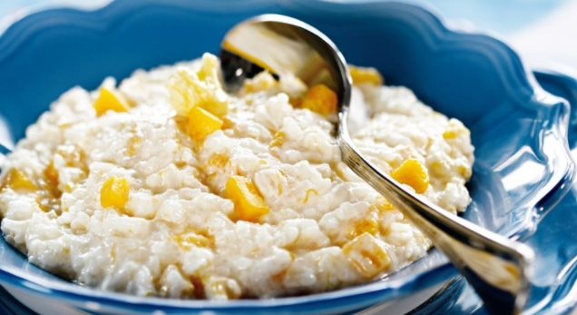 Milk Rice Porridge with Pumpkin