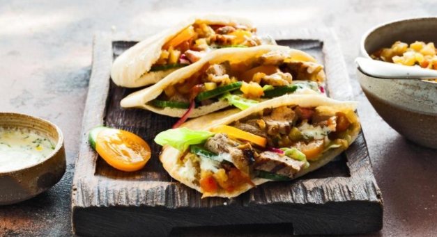 Marinated Lamb Tortillas