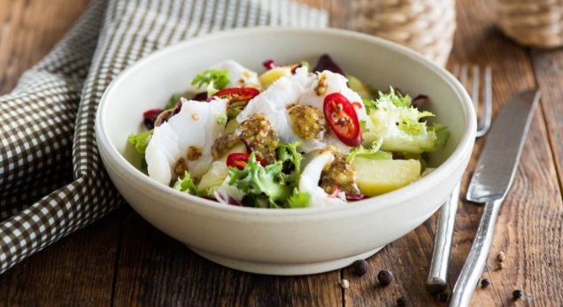 Potato Salad with Pickled Cod