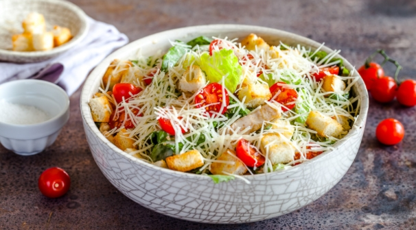 Caesar Salad with Chicken at Home
