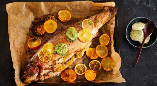 Baked Fish with Citrus Oil
