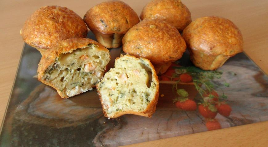 Shrimp and Spinach Muffins