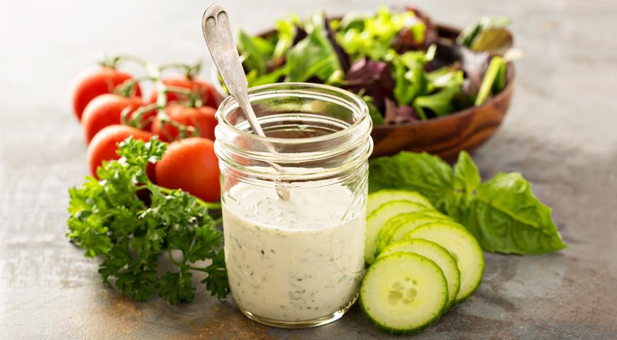 Mascarpone Cheese Dressing with Herbs