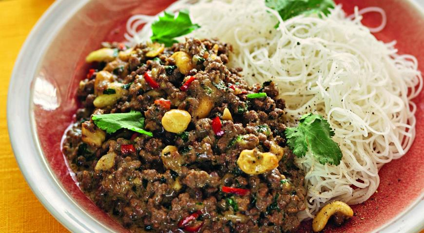 Minced Meat Curry with Cashews