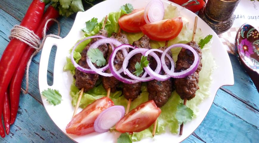 Beef Lula Kebab with Herbs