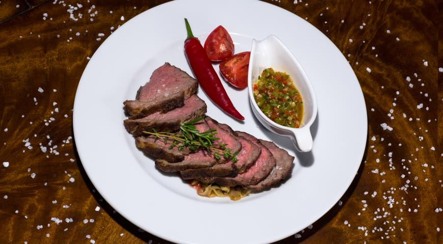 Montevideo Steak with Chimichurri Sauce