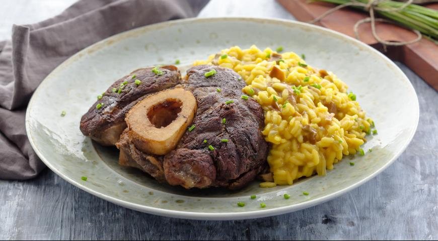 Osso Buco with Risotto Milanese