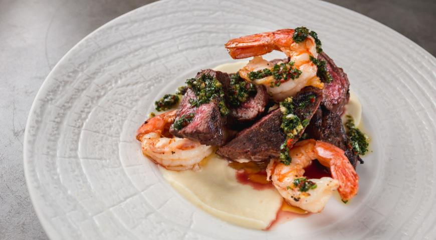 Beef and Shrimp with Chimichurri Sauce - Learning to Cook Surf & Turf Style