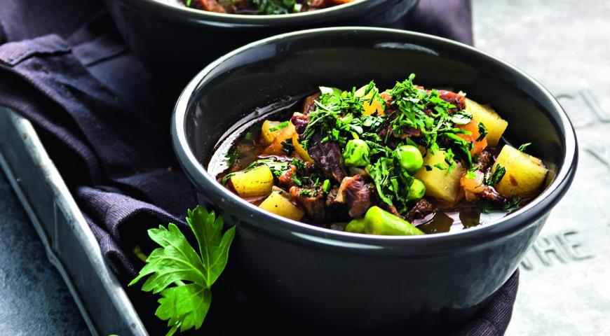Soup with Vegetables, Beef and Buckwheat