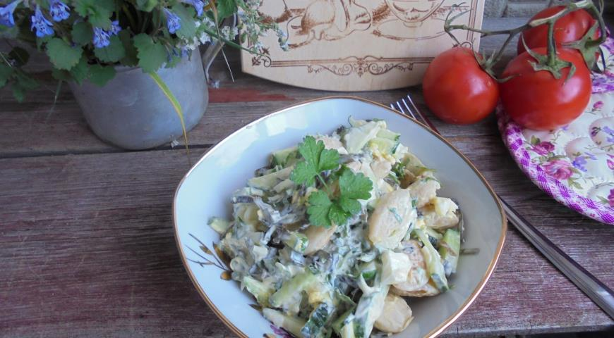 Salad with Seaweed and Lima Beans