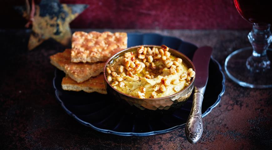 Warm Hummus with Spicy Pine Nuts
