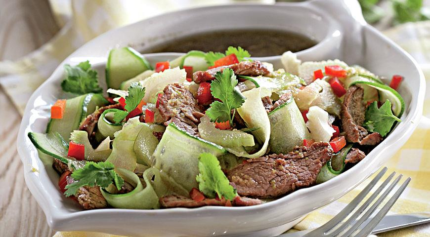 Warm Beef and Cucumber Salad