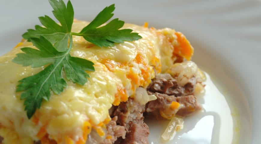Beef with Vegetables and Cheese