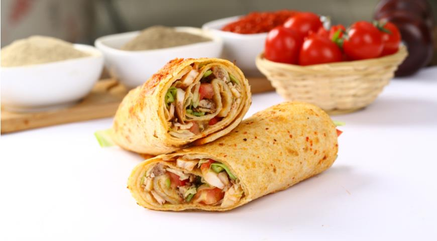 Shawarma with Spicy Vegetables