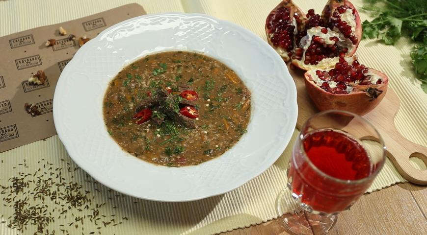 Summer Kharcho with Pomegranate Juice