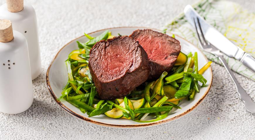 Roast Beef on a Green Pillow