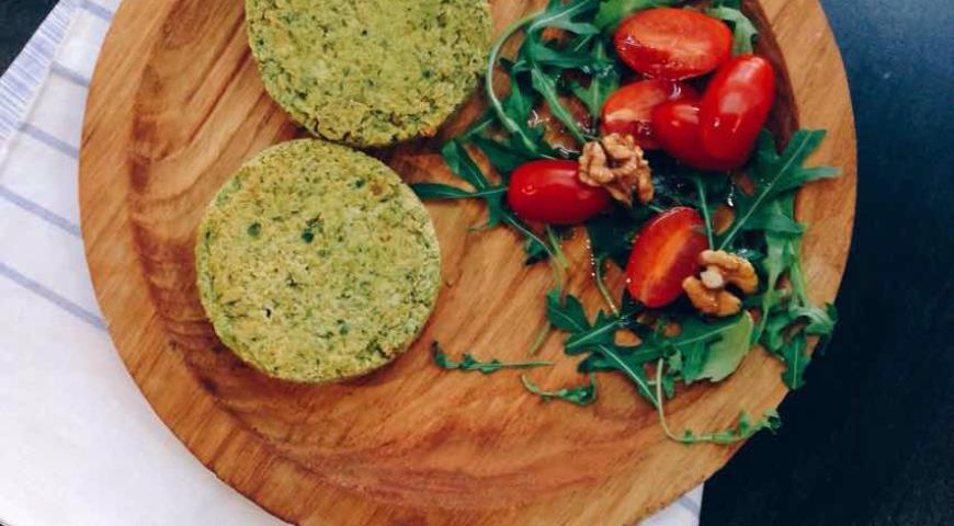 Chickpea Cutlets with Spinach