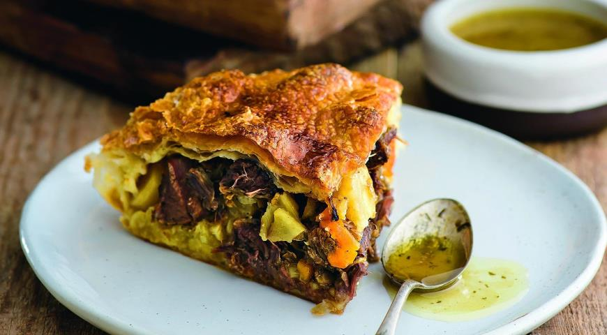 Hearty Beef Shank Puff Pie