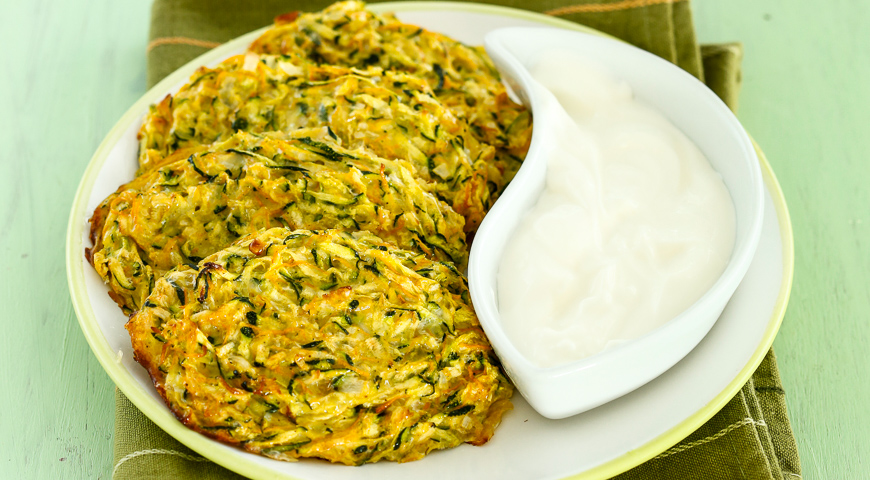 Vegetable Pancakes with Feta from the Oven