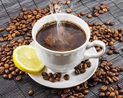 Coffee in lemon