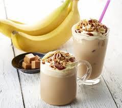 Cold banana latte