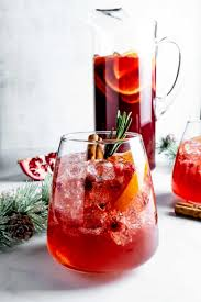 Champagne punch with pomegranates
