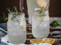 Lemonade with mint and rosemary