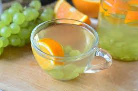 Grape-orange compote with mint
