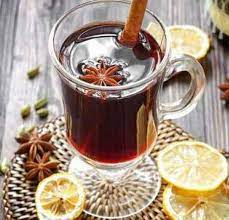 French mulled wine with coffee