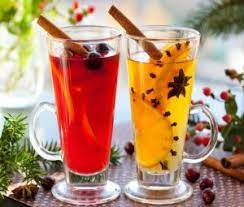 Christmas mulled wine with white wine and oranges